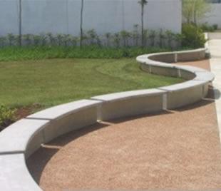 Bancos de concreto bancos ondulados mesa e banco banco - Bancos de cemento ...