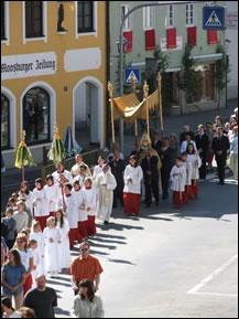 Procissão de Corpus Christi, Moosburgo, Alemanha, 2005
