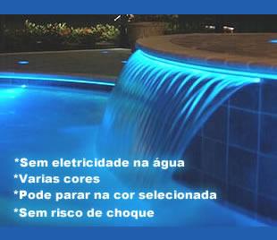 Iluminação piscina fibra