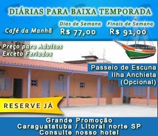 Hotel Caraguatatuba, pacote  em até 10x sem juros